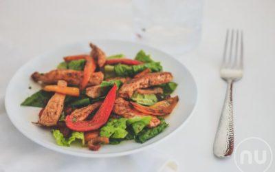 Heart Smart Chicken Fajita Salad with Cilantro Lime Vinaigrette