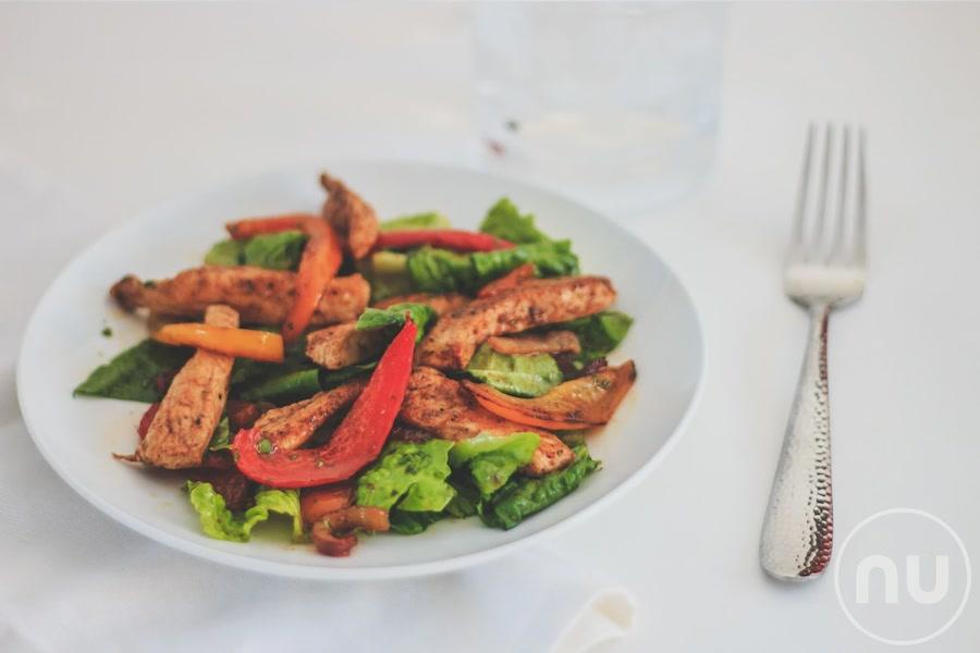 Chicken Fajita Salad with Cilantro Lime Vinaigrette