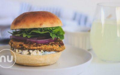 Veggie Burger with Fresh Dill Sauce